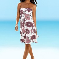 MAUVE MULTI Strapless beach dress from VENUS