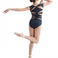 JFM Diamond Back Cut Away Cap Sleeve Leotard / Bloch
