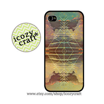 Geometric iPhone 4 Case, iPhone 5 Case,iPhone 4s Case, retro, colorful,abstract iPhone Case, iPhone Cover,-033