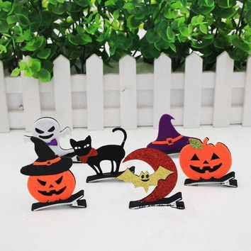 6PCS/Pack 2018 New Halloween Decoration Festival DIY Birthday Party Decorations Kids Bat Wings,Pumpkin,Demon,Witch,Cat Handmade