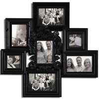 Decorative Black Polyresin Detailed Wall Hanging Collage Picture Photo Frame