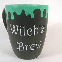 Halloween Mug - Black Coffee Mug - Matte Mug - Coffee Mug - Witch Mug - Black Coffee Cup - Witch Cup - Holiday Decor - Coffee Cup - Black