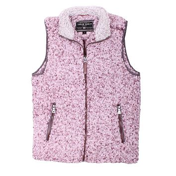 Frosty Tipped Double Up Vest in Vintage Wine by True Grit