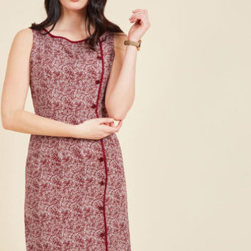 Classified Chic Sheath Dress in Maroon | Mod Retro Vintage Dresses | ModCloth.com
