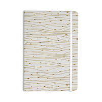 "888 Design ""Golden Stripes Pattern"" Abstract Gold Everything Notebook"