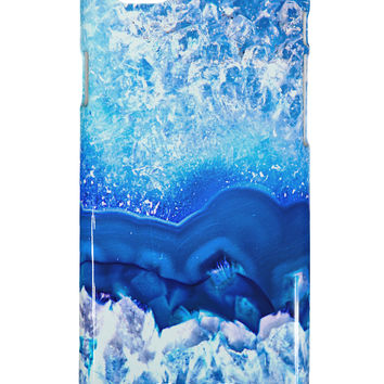 Blue Agate Geode Print iPhone 6 Plus Plastic Case All Over Print