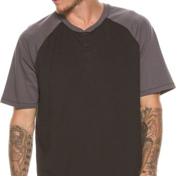 HURLEY DRI-FIT MAIN HENLEY SS TEE