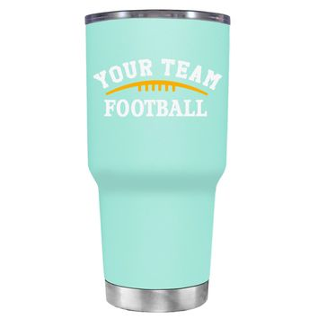 TREK Custom Football Team on Seafoam 30 oz Tumbler Cup
