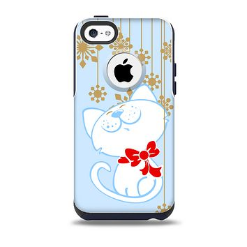 The Happy Winter Cartoon Cat Skin for the iPhone 5c OtterBox Commuter Case