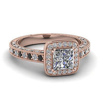 AMAZING 1.69CT PRINCESS  925 STERLING SILVER ENGAGEMENT AND WEDING RING FOR HER