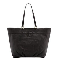 Tory Burch East West Stacked T Tote Bag Black