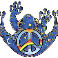 Peace Frog - Sticker