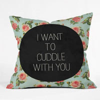 Deny Designs Cuddle With You Throw Pillow Mint One Size For Women 23687752301