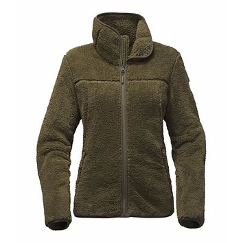 Women's Campshire Full Zip Sherpa Fleece in Burnt Olive Green by The North Face
