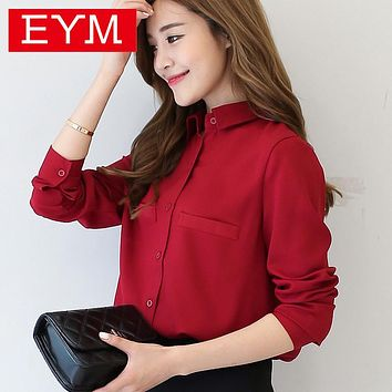 Brand Women Blouse Long Sleeved