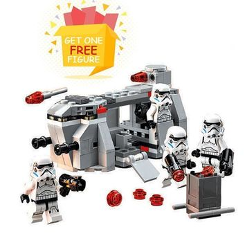 Star Wars Force Episode 1 2 3 4 5 Bela Pogo Compatible Legoe Space  141pcs 10365 Royal Army Imperial Troop Transport Building Blocks Bricks AT_72_6