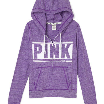 Beach Zip Hoodie - PINK - Victoria's from VS PINK | Quick