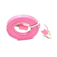8 Pin USB Flat Noodle Sync Data Charger Cable for iPhone 5 5G iPad Mini Pink:Amazon:Home & Kitchen
