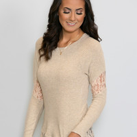 Spring Knit Lace Top