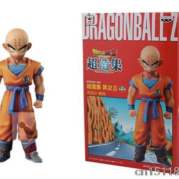11cm Japanese Anime Banpresto Dragon ball Z Kai Figure Super Structure Concrete Collection Vol 3 Krillin Action Figure Kids Gife