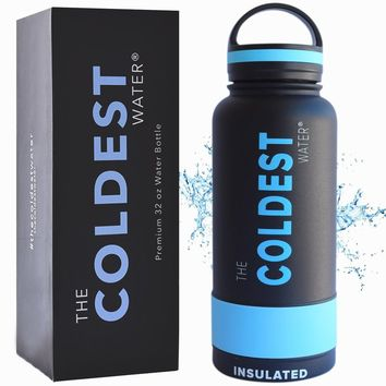 The Coldest Water Bottle Wide Mouth 32 oz Vacuum Insulated Stainless Steel Hydro Travel Mug