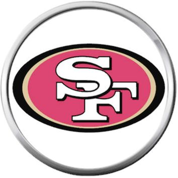 San Francisco 49ers NFL Logo Football Fan Team Spirit 18MM - 20MM Snap Jewelry Charm
