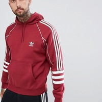 adidas Originals Authentic Hoody In Red DJ2859 at asos.com