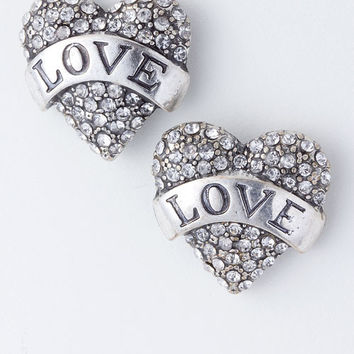 Rebel Love Crystal Studded Earrings
