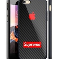 Top Famous Supreme Apple Logo Hard Case For iPhone 6 6+ 6s 6s+ 7 7+ 8 8+ X Cover