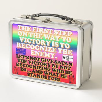 The First Step On The Way To Victory. Metal Lunch Box