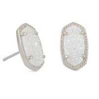 Ellie Drusy Stud Earrings in Silver | Kendra Scott