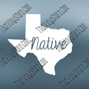 Texas Home Decal | Texas State Decal | Homestate Decals | Native Sticker | Love Decal | Car Truck Decal Car Sticker | 554