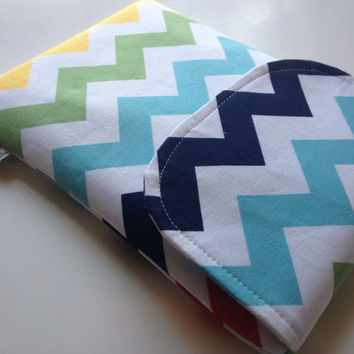 iPad Mini, iPad Mini Cover, iPad Mini Sleeves, Rainbow Chevron iPad Mini Padded Sleeve