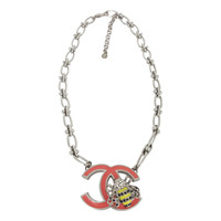 """Chanel Bumble Bee """"CC"""" Necklace From 2004."""