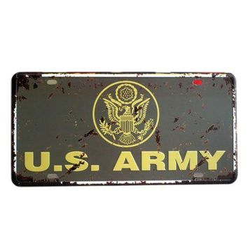 America Vintage Car Plate Wall Hanging Decoration   20