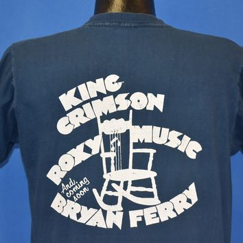 80s Roxy Music King Crimson Brian Ferry Rockers t-shirt Large