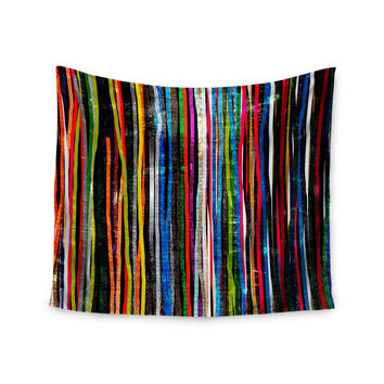 "Frederic Levy-Hadida ""Fancy Stripes Dark"" Wall Tapestry"