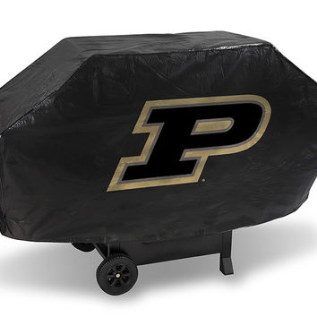 PURDUE UNIVERSITY DELUXE GRILL COVER-(Black Background)
