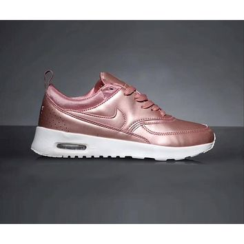 Nike Air Max 90 Popular Women Men Leisure All Leather Small Ar Cushion Sport Running Shoe Sneakers Pink I-CQ-YDX