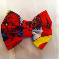 The Amazing Spiderman Fabric Hair Bow Marvel by StylishGeek