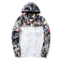 Men's Floral Hooded Jacket
