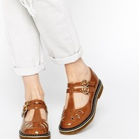 Truffle Collection Cali T Bar Flat Shoes