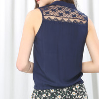 Lace Detail Wrapped Blouse