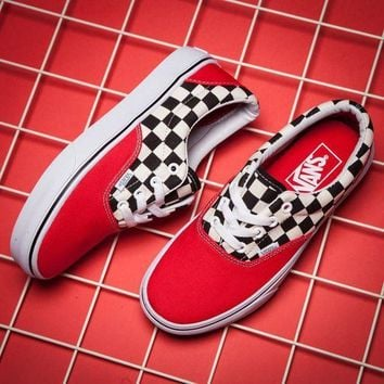 ICIKBWS VANS ERA Canvas Old Skool Checkerboard Tartan Sneakers Sport Shoes
