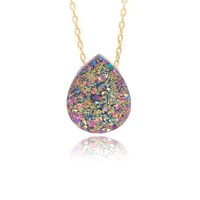 Peacock Druzy Necklace
