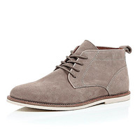 River Island MensLight brown suede chukka boots