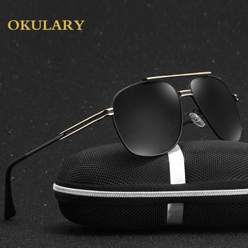 OKULARY Brand Fashion Sunglasses Men Polarized Glasses Aviator Driving Design Sun Glasses oculos de sol feminino  0882