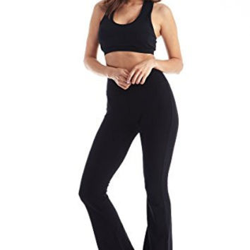 Viosi Women's Premium 250gsm Fold Over Cotton Spandex Lounge Yoga Pants