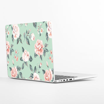 Blossom on Green Laptop Skin