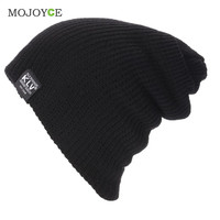 Fashion Men Slouch Slouchy Beanie Knit Winter Skull Snowboard Cap Unisex Knitted Hats Soft Beanie Gorro Cap